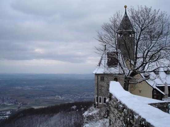 Burg Teck im Schnee